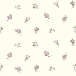 Sandra Purple Floral Toss Wallpaper CG11364
