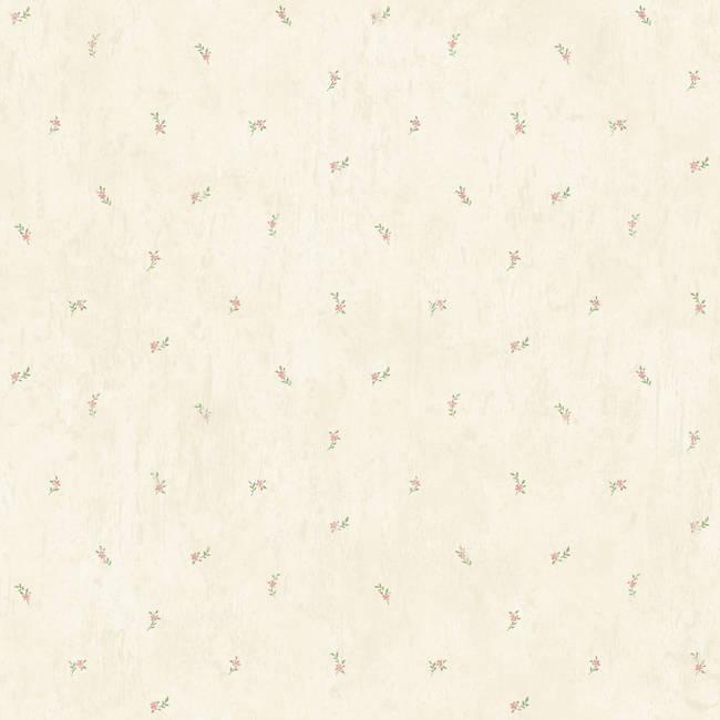 Lafayette Beige Floral Toss Wallpaper CG11372