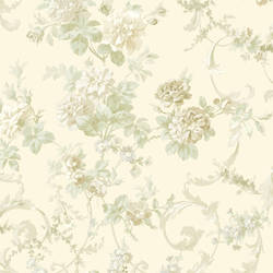 Villa Cream Floral Tapestry Wallpaper CG583910