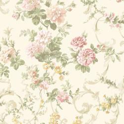 Villa Pink Floral Tapestry Wallpaper CG583912