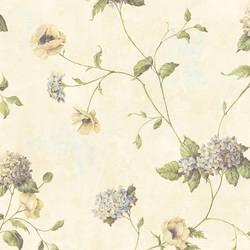 Henrietta Rose Hydrangea Floral Trail Wallpaper CG97013