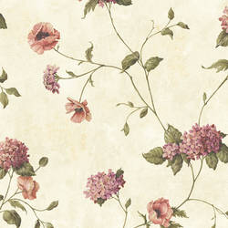 Henrietta Grey Hydrangea Floral Trail Wallpaper CG97014