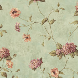 Henrietta Blue Hydrangea Floral Trail Wallpaper CG97017
