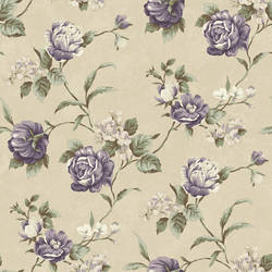 Gleason Grey Floral Rose Trail Wallpaper CG970610