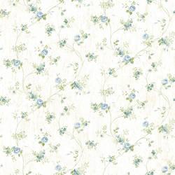 Virginia Blue Floral Vine Wallpaper CG97092