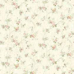 Virginia Rose Floral Vine Wallpaper CG97093