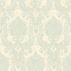 Samantha Blue Damask Wallpaper CG97126