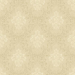 Golden Wheat Damask Wallpaper CG97132