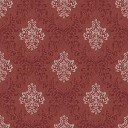 Golden Red Damask Wallpaper CG97138