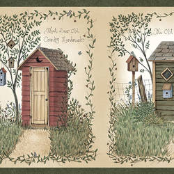 Fisher Sage Country Outhouses Border CTR50321B