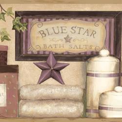 Martha Violet Country Bath Border CTR63103B