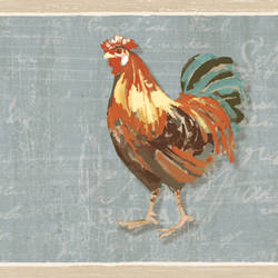 Bailey Sky Rooster & Script Border CTR63112B