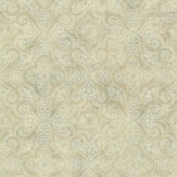 Christiana Wheat Damask Medallion CTR64183