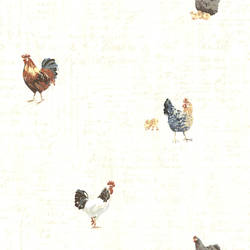 Lisle Cream Roosters & Script CTR64212