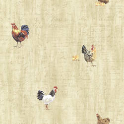 Lisle Wheat Roosters & Script CTR64213