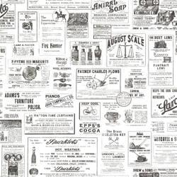Adamstown Ivory Vintage Newspaper CTR64272