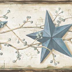 June Blue Heritage Tin Star Border CTR65366B