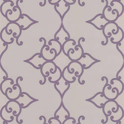 Sebastian Purple Crepe Moroccan Medallion DL30609