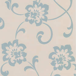 Sharon Aqua Jacobean Floral DL30648
