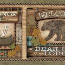 Tugalo Green Bear Paw Lodge Border TLL01561B
