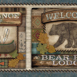 Tugalo Blue Bear Paw Lodge Border TLL01562B