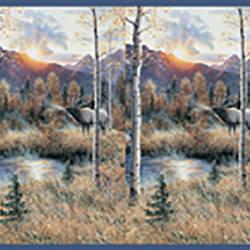 Wakeby Blue Elk River Border TLL50281B