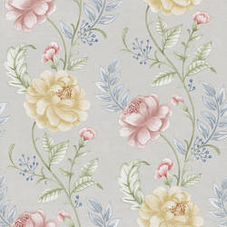 Summer Palace Grey Floral Trail 2669-21758