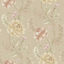 Summer Palace Taupe Floral Trail 2669-21757