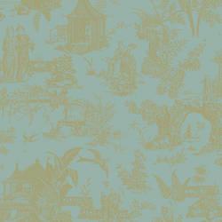 Zen Garden Turquoise Toile 2669-21765