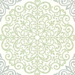 Cassidy Mint Medallion Damask CCE130021