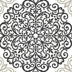 Cassidy Black Medallion Damask CCE130023