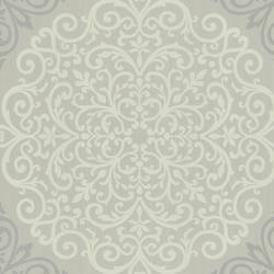 Cassidy Grey Medallion Damask CCE130026