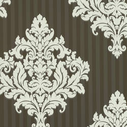 Rowan Chocolate Damask Stripe CCE130095