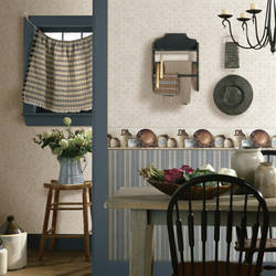 Blue Farmhouse Stripe FFR66314