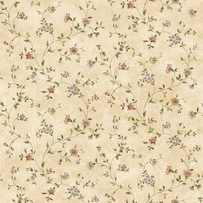 Cream Antique Floral Vine FFR66362