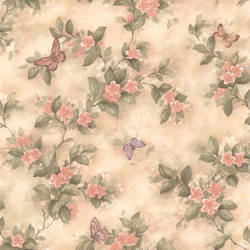 Lisa Peach Butterfly Floral 436-38573