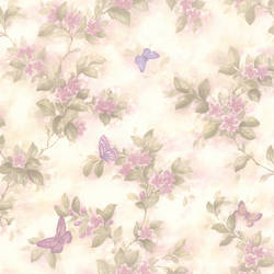 Lisa Lavender Butterfly Floral 436-65762