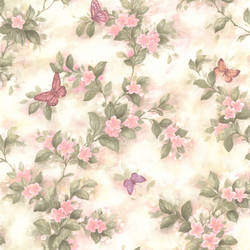 Lisa Pink Butterfly Floral 436-65763