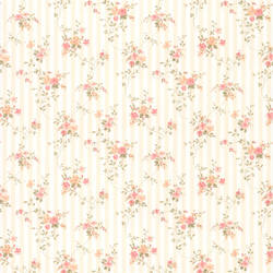 Delilah Peach Floral Stripe 436-66374