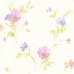 Kala Purple Satin Floral 436-66609