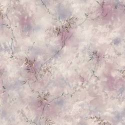 Bertrand Purple Satin Fern Texture 436-72722