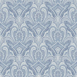 Barnes Blue Paisley Damask MAN01661