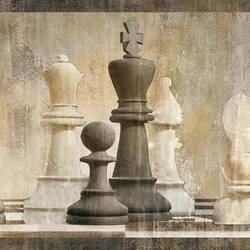 Albert Beige Chess Border MAN01841B