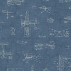 Douglas Blue Vintage Planes MAN02724