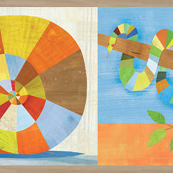 Raffi Multicolor Rainbow Snail and Pals Border HAS01101B