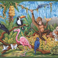 Nathaniel Green Swinging Jungle Border HAS01131B
