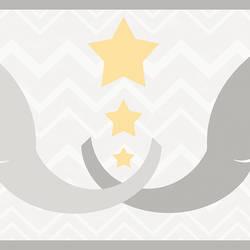 Tobi Grey Elephant Love Border HAS01171B