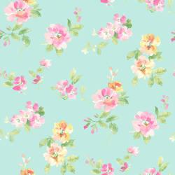 Captiva Aqua Floral Toss HAS54595