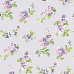 Captiva Lavender Floral Toss HAS54596