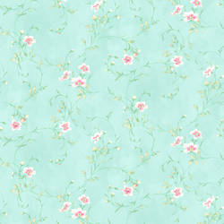 Capri Aqua Floral Scroll HAS54635